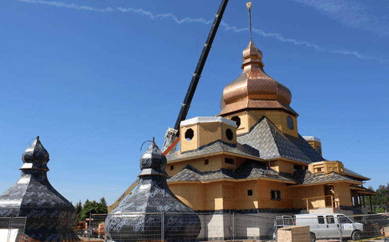 St. Elias Ukrainian Catholic Church in Brampton, Ontario, Canada (© Moses Structural Engineers Inc.)