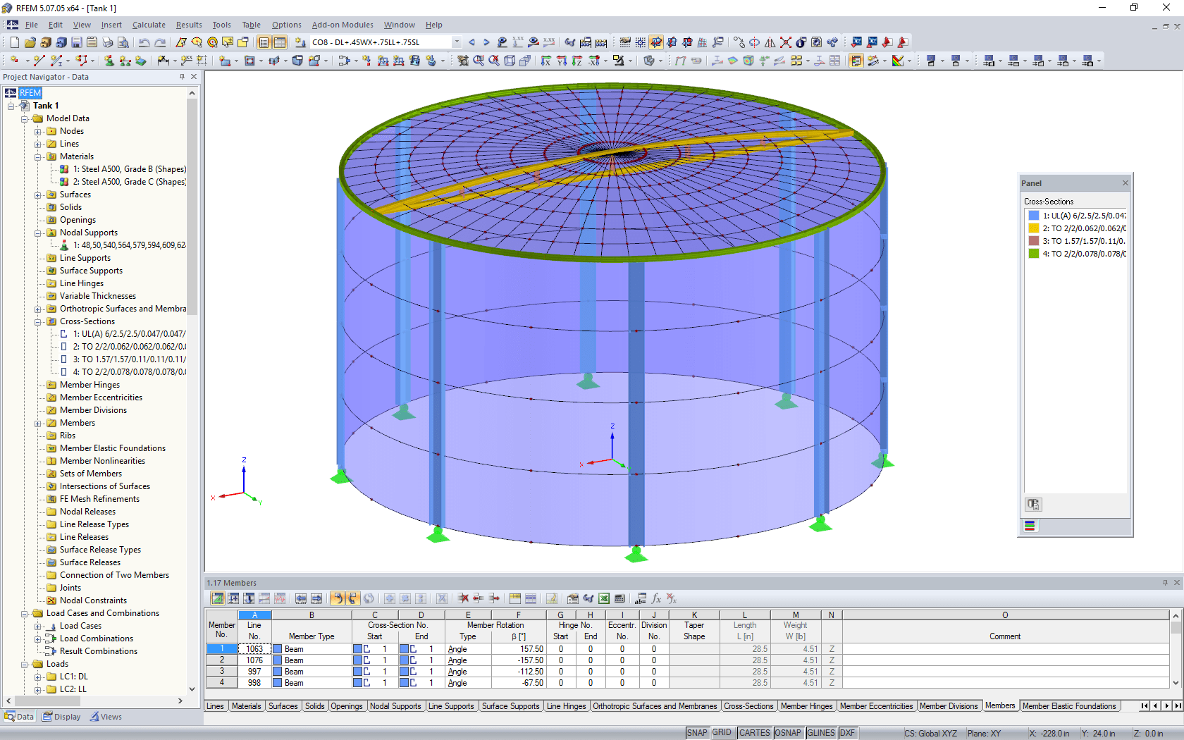 3D model of water tank in RFEM (© Rocky Summit EC)