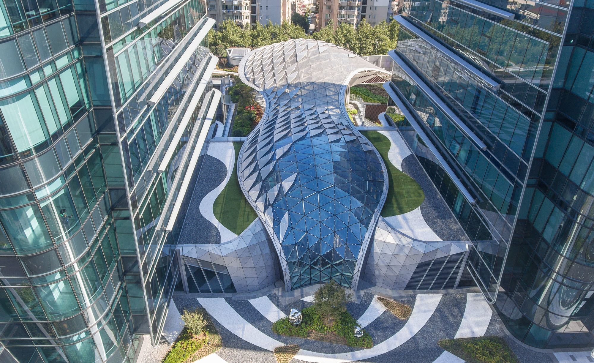 Free Form Glass Structure In Shanghai China Dlubal Software