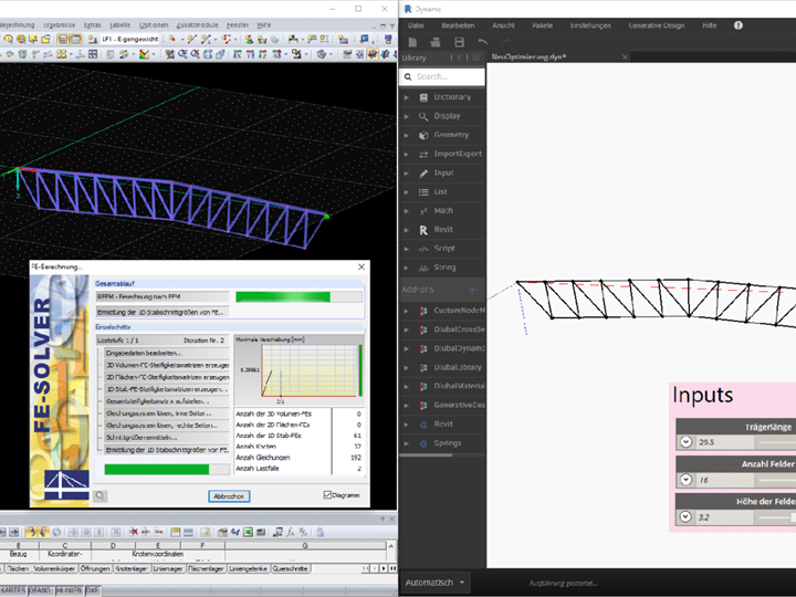 Parametric, Structural Dimensioning of Structures Utilizing Commercial Software