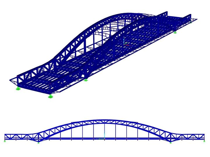3D Model of Bridge Structure in RFEM