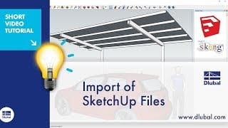 Video: Import of SketchUp Files in RFEM with 3skeng