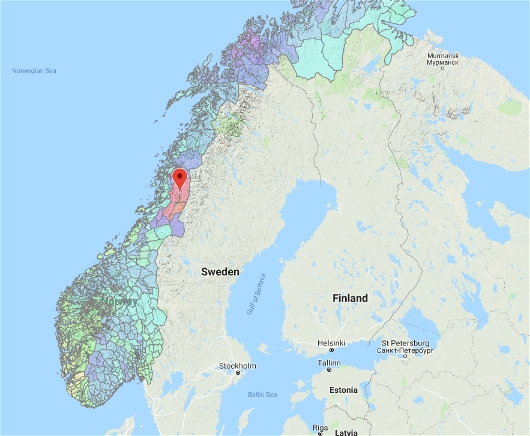 Snow Load Zone Map of Norway