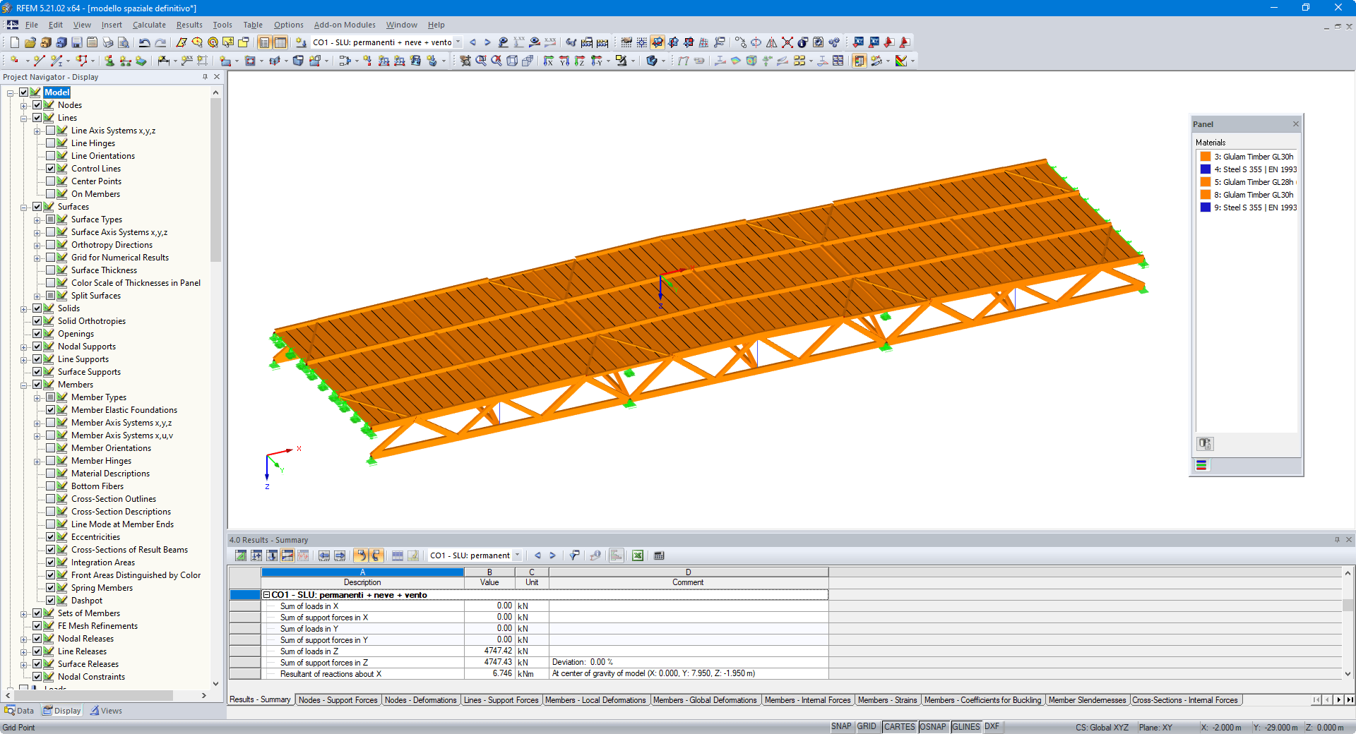 Geometric Modeling of Timber Roof