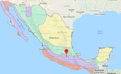 Seismic Zone Map of Mexico