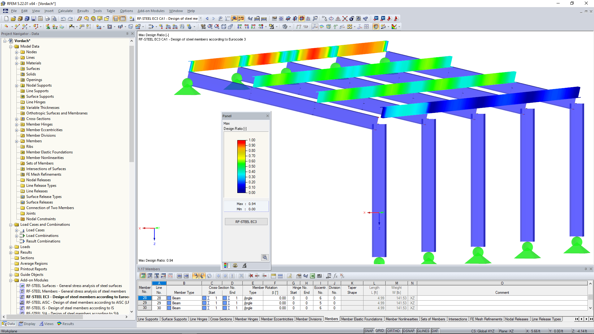 RF-/STEEL Cold-Formed Sections: Design Results in RFEM