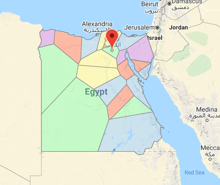 Wind Zone Map of Egypt