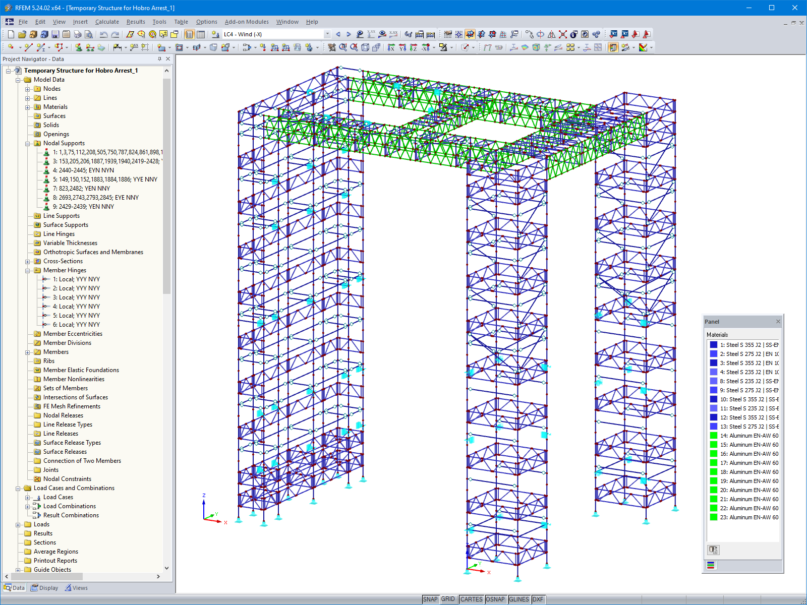 3D Scaffolding Model in RFEM (© PlusEight System AB)