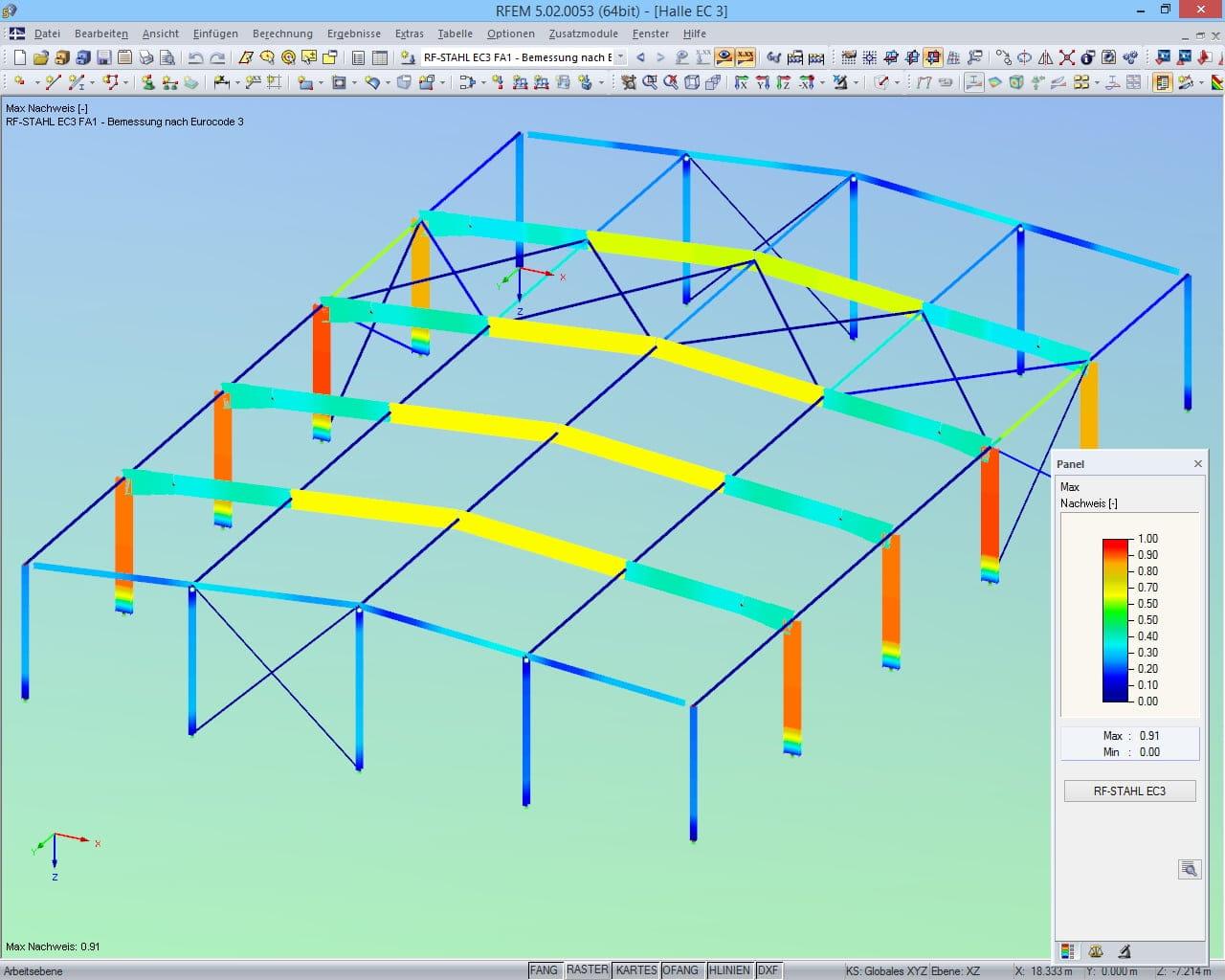 Statische berechnung von stahlhallen dlubal software for Berechnung windlast beispiel