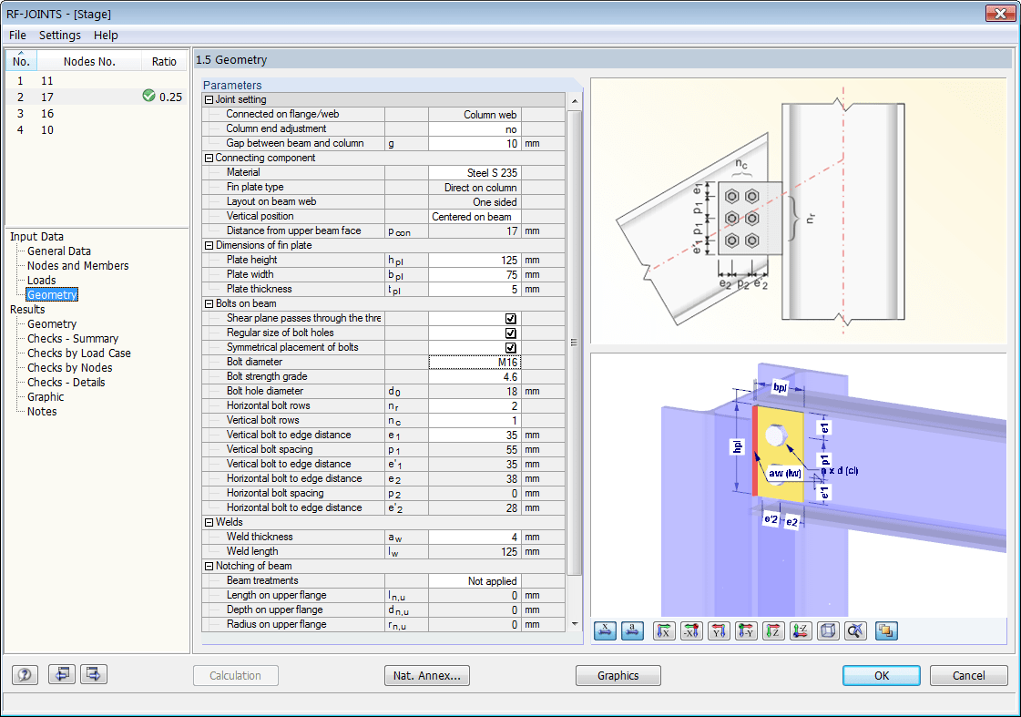 Pinned Joints According to EN 1993-1-8 | Dlubal Software