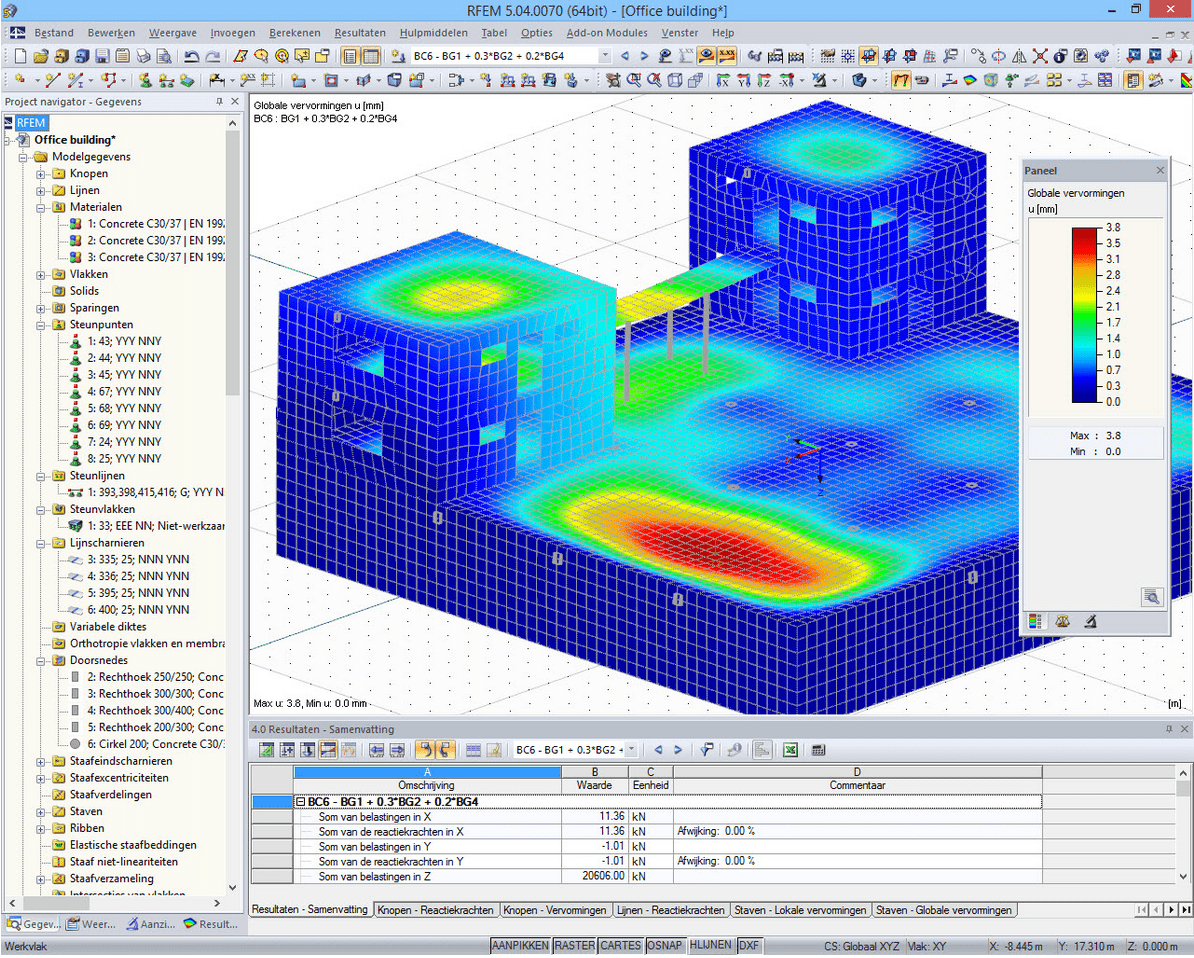 RFEM con interfaccia in olandese