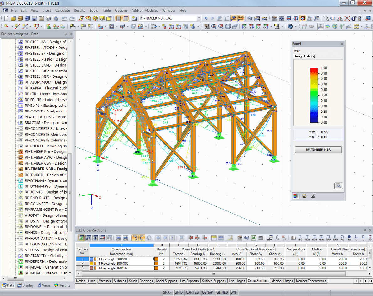 3D rendering with design ratio in RFEM
