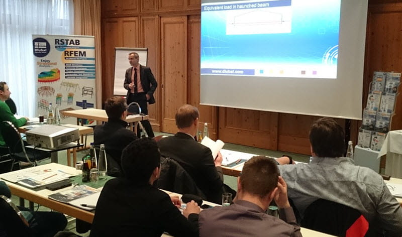 Presentation at the Dlubal Technical Seminar in Munich