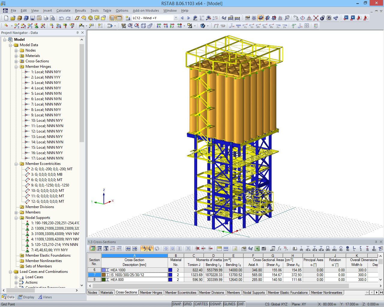 3D model of the supporting structure of the dry mixing plant (© www.dw-ingenieure.de)