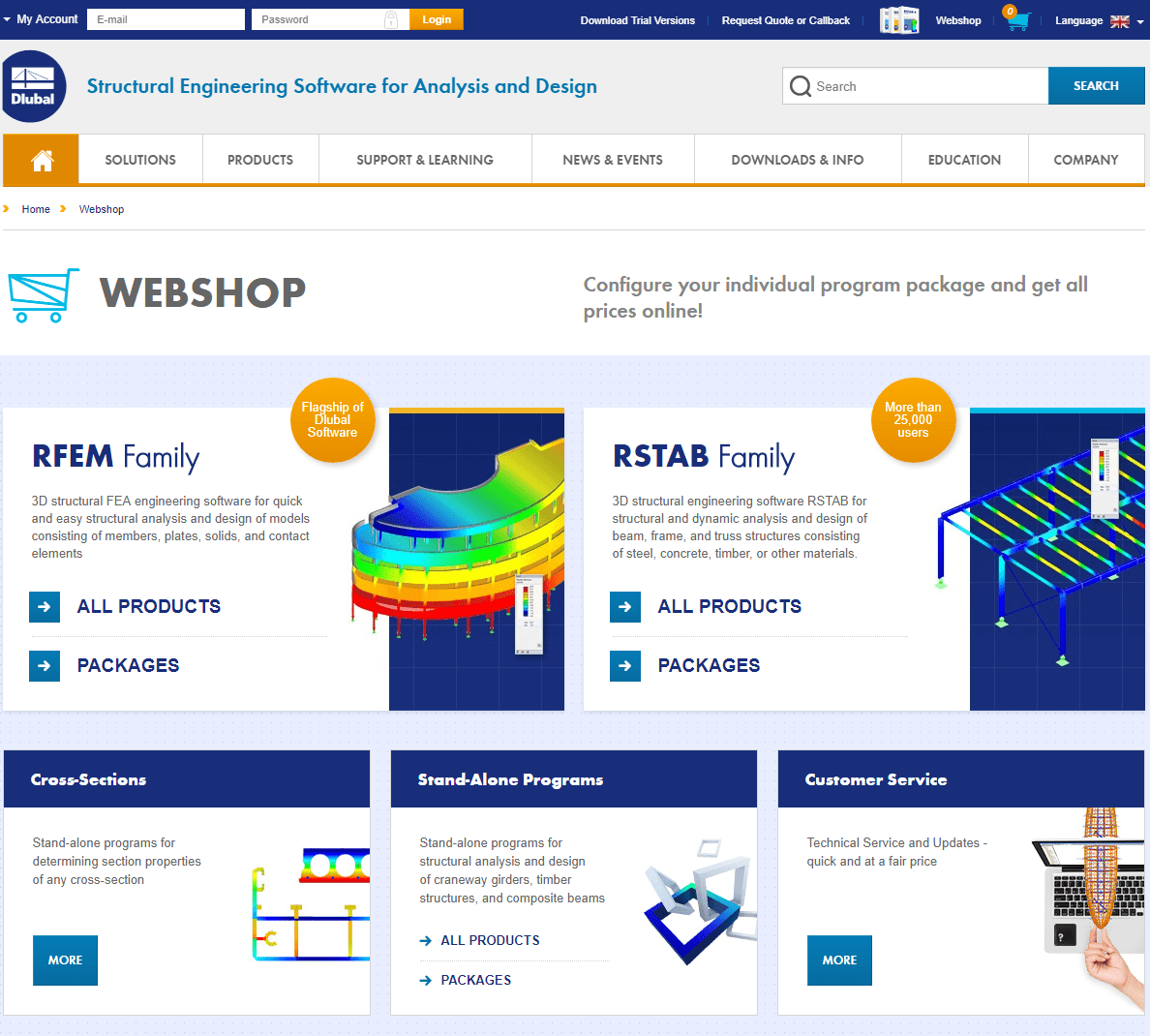 Dlubal Software Webshop