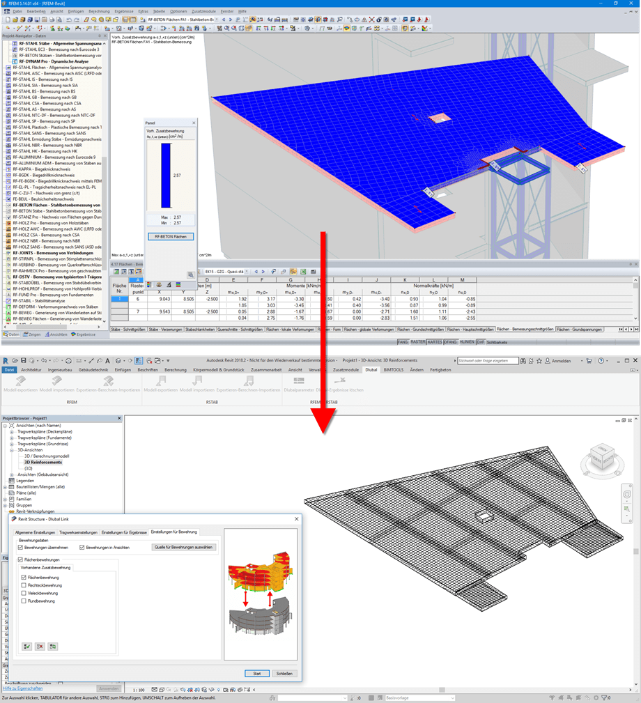 Export of Reinforcement Objects from RFEM to Revit