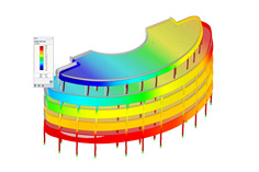 FEA Software RFEM | Model of Hotel (C) www.ingena.info