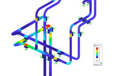 RFEM Add-on Module RF-PIPING Design | Design of Piping