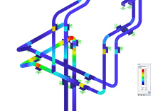 RFEM Add-on Module RF-PIPING Design | Design of Pipings