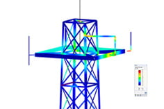 Resultados do dimensionamento no RF-/TOWER Design em 3D