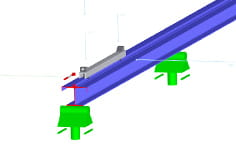 Crane girder in 3D rendering