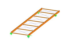 Stand-alone program RX-TIMBER Brace | Truss Bracings