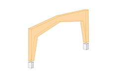 Stand-alone program RX-TIMBER Frame | Three-hinged frames with finger-joint connections