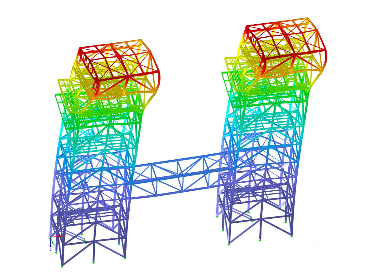 RSTAB model of industrial scaffolding
