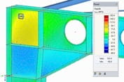 Structural engineering analysis software | Steel stress analysis of frame joint