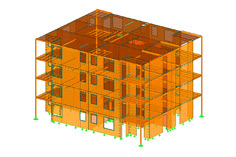 RFEM model of apartment complex (C) www.rubner.com