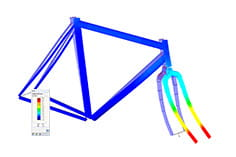 RFEM model of bicycle frame
