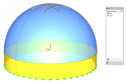Concrete dome, container, and shell modeling in RFEM