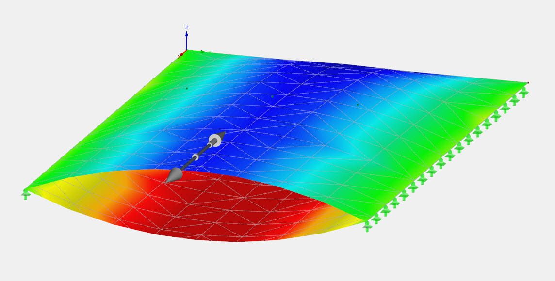 Simulation of Air-Inflated Foil Cushions in RFEM