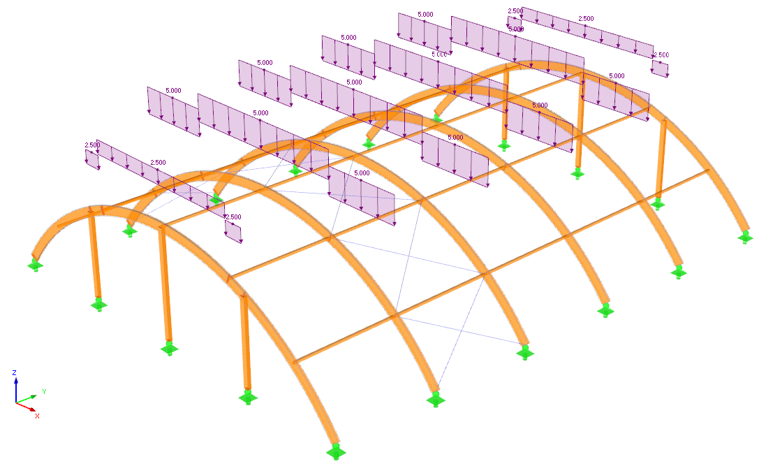 Timber Arch Structure Design per EC 5