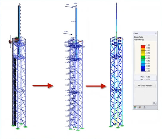 Modeling and Designing Steel Towers by Using RFEM