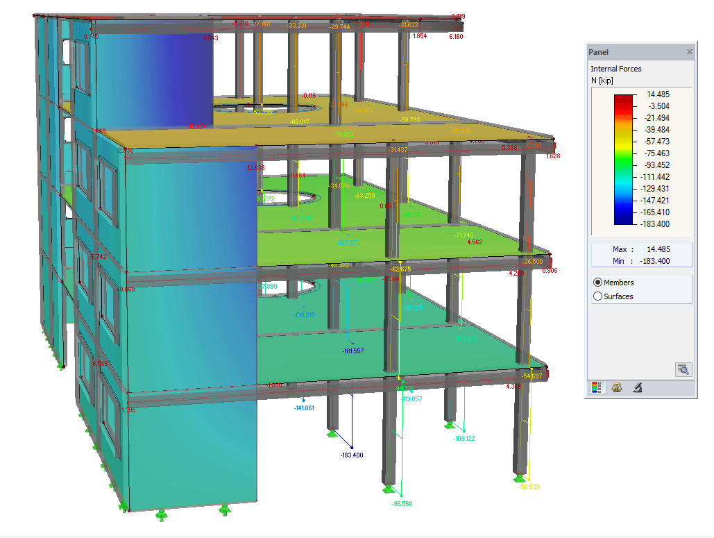 ACI 318-14 Concrete Column and Beam Design in RFEM