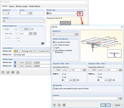 Rib with Integration Widths