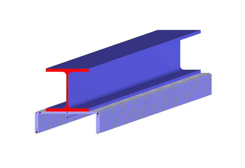 Subdivides cross-section into surfaces