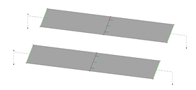 Two Equal Surfaces with Line Hinge in Center