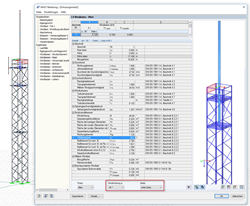 Intermediate Values in RF-/TOWER Loading