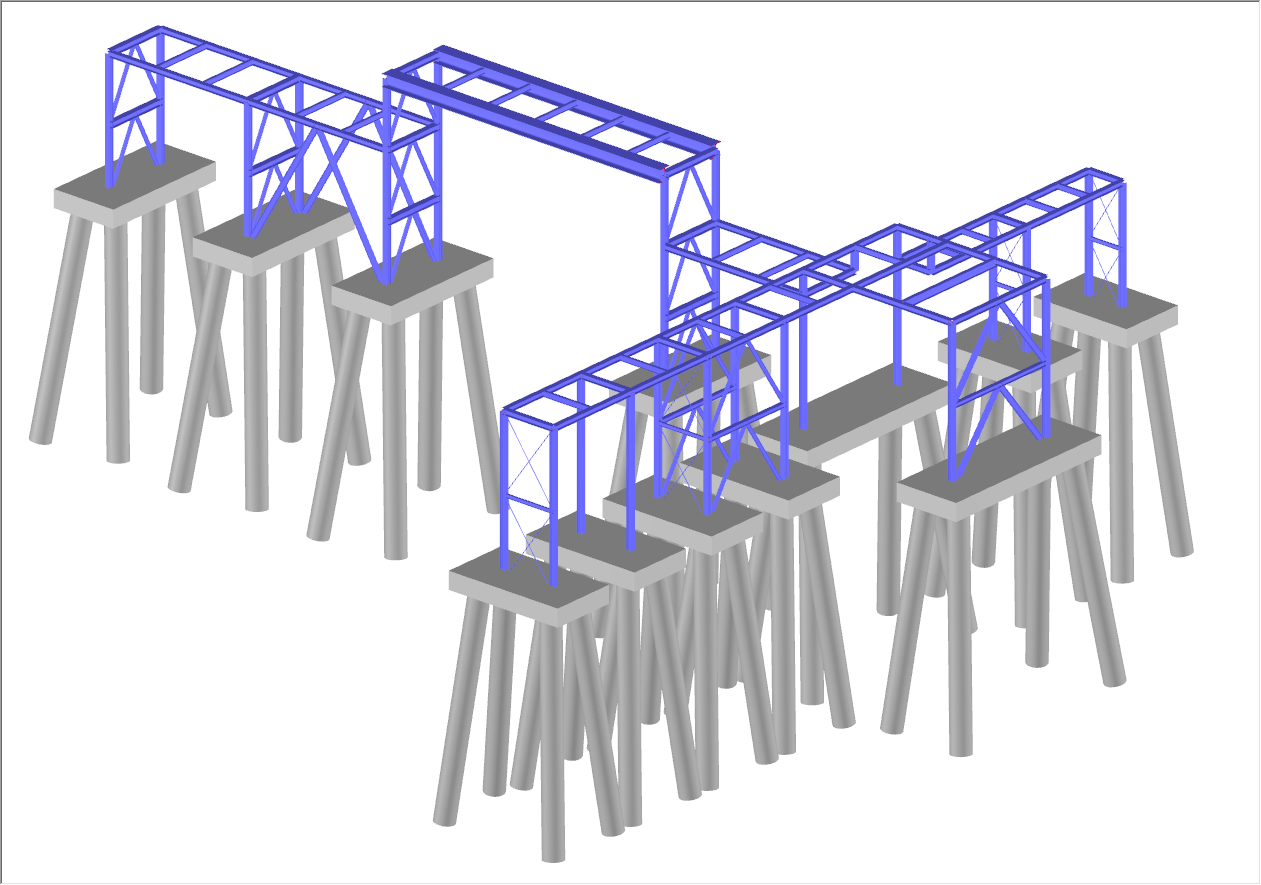 Model with Pile Foundation