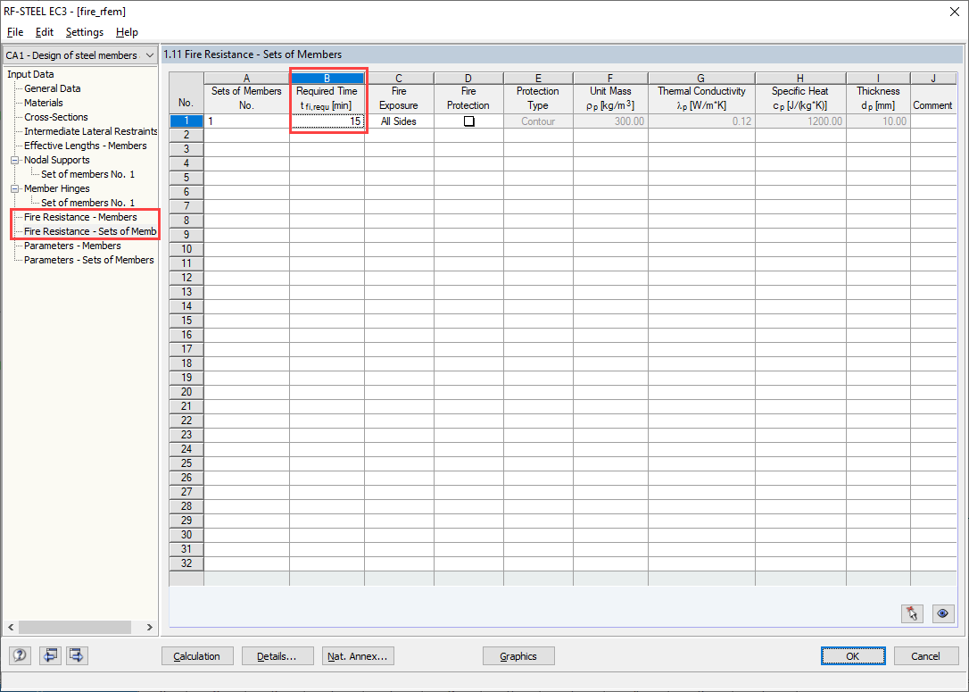 Specifying Individual Temperature in Table 1.10 or 1.11