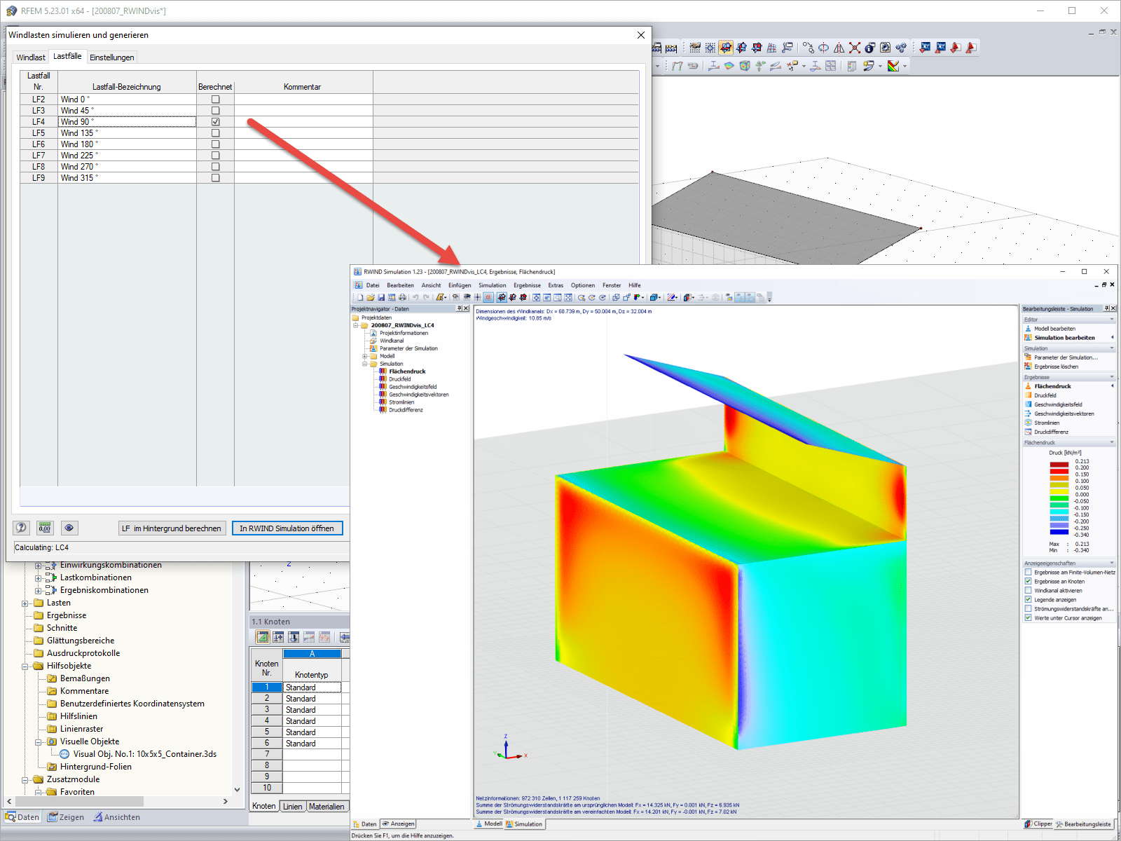 Results of RWIND Simulation