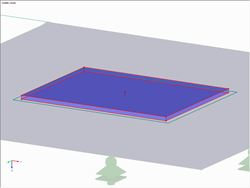 Contact Solids Between Base Plate and Reinforcing Plate