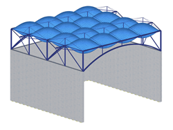 Pneumatic Roof Structure