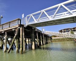 Aluminium footbridge