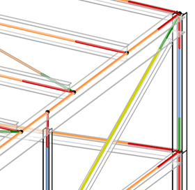BIM advantage: In Revit, the position of system lines and FE nodes of structural components can already be defined in the physical model. This model can be imported directly to RFEM.