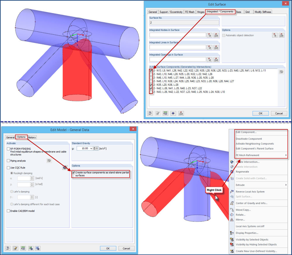 Converting Old Intersections in RFEM 5