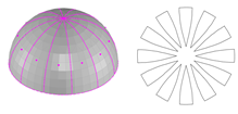 Cutting Pattern of Half Sphere