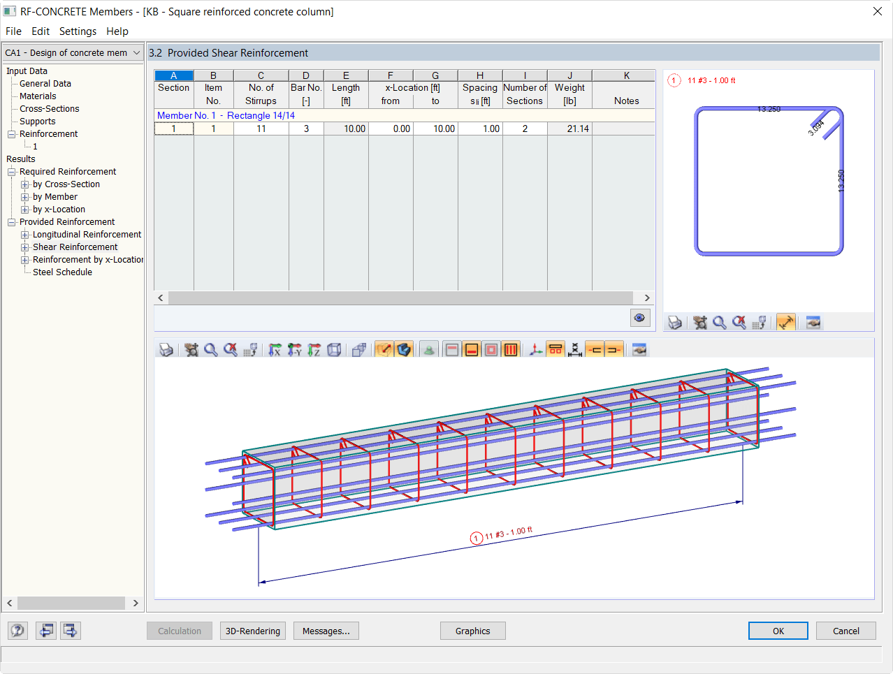 Reinforced Concrete Column Design Per Aci 318 14 In Rfem Dlubal Software
